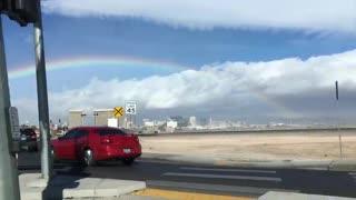 Awesome rainbow over Las Vegas.