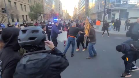 BLM-antifa Attack People Leaving DC Million MAGA March