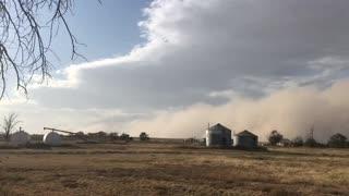 Massive dust storm captured on camera near Granada, Colorado