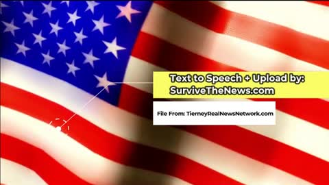 Tierney Real News Network Audio Jan 11th Update