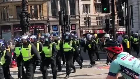 anti Coronavirus lockdown protest in central London 5