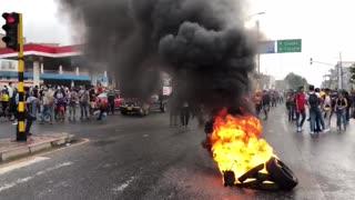 Protesta en el norte de Bucaramanga