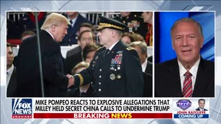 Pompeo reacts to bombshell allegations that Milley tried to undermine Trump