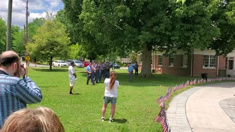 Memorial Day Ceremony in Rockmart, GA by the American Legion Brown-Wright Post 12