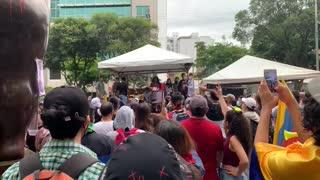 Protesta en San Pío 8M