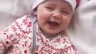 sweet baby is laughing