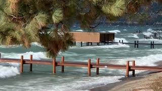 Windstorm Leads to Big Waves on Lake Tahoe