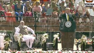President Trump attends Namaste Trump event in Ahmedabad, Gujarat India