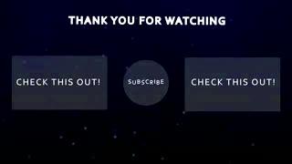 Outro Blue - YouTube Outro