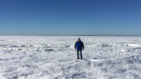 Watch This Insane Footage Of Whole Ocean Frozen Over