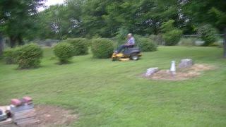 Hands Free Zero Turn Lawn Mower!
