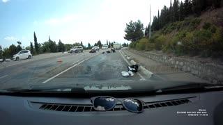 Bikers Crash into Oncoming Car