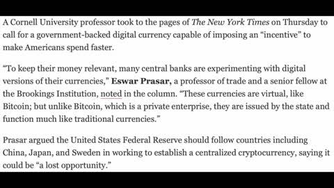 NYT Defends Fed-Backed Crypto