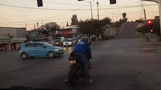 Instant Karma for Motorcycle Showoff