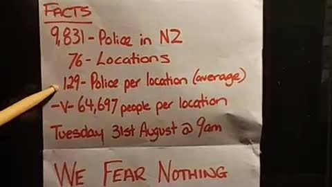 New Zealand we fear nothing these are the numbers