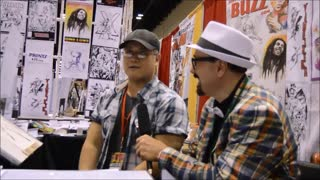 60 second video clip of an interview we did with illustrator/comic book artist Aldrin Aw (Buzz)
