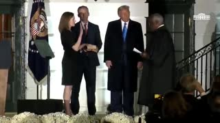 Justice Clarence Thomas Administers Oath of Office for Justice Amy Coney Barrett