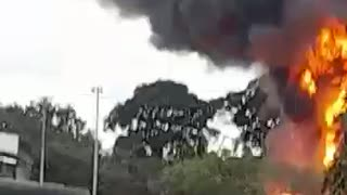 Video: Reportan fuertes explosiones en la vía a Chimitá 2