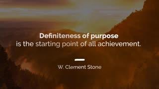 Definiteness of Purpose