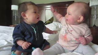 Funny Cute Baby Video - Talking Twin Babies