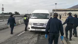Metro police stop and search Cape taxis