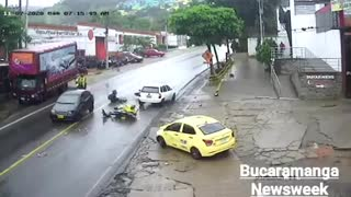 Video: Imprudencias ocasionaron accidente en el norte de Bucaramanga