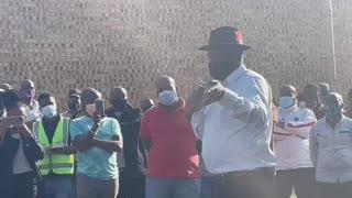 Police Minister Bheki Cele in Phoenix, KZN on Saturday.