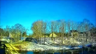 Timelapse - Sunny Winter Day in Maine - Sunrise to Sunset in 40 Seconds