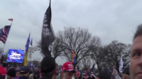 Stop The Steal MAGA crowd 1/6/2021 @ Washington Memorial (raw footage)