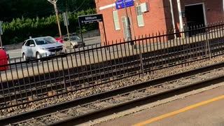 NJ Transit express bypass historic Millburn Station in Millburn NJ