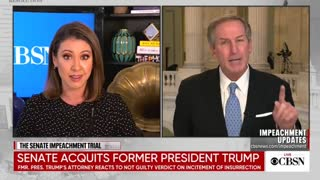 Trump Lawyer DESTROYS CBSN Anchor For Downplaying Dems Falsifying Evidence At Impeachment Trial