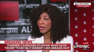 Alva Johnson describes Donald Trump allegedly trying to kiss her