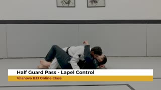 Half Guard Pass - Lapel Control