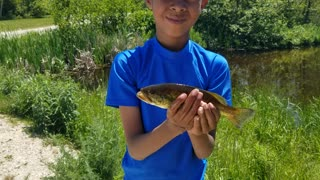 The first fish of the day