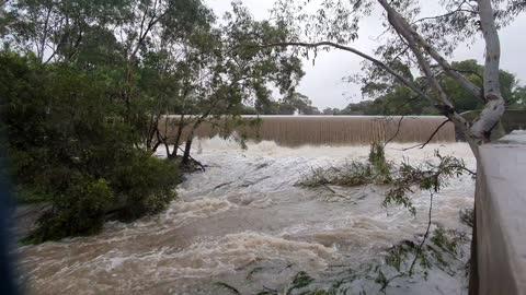Coburg Lake Reserve Waterfall After Heavy Rain