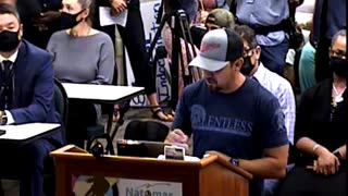 Father speaks out at the Natomas Unified School District school board meeting
