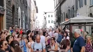 Florence, Italy: Green Pass, Lockdown Protest