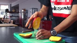 Life Hack: Fastest way to peel a mango