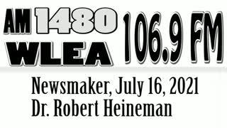 Wlea Newsmaker, July 16, 2021, Dr. Robert Heineman