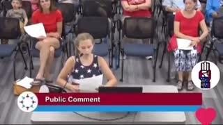 9-Year Old DESTROYS School Board For Pushing Radical Left Politics In School