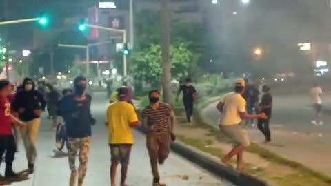 Bloqueo: enfrentamiento en la Bomba del Amparo