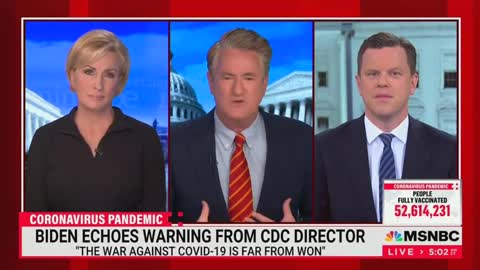 """Scarborough FREAKS OUT on """"Stupid"""" Americans Against """"Vaccine Passports"""""""