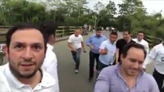 Guaidó cruzó la frontera para el Venezuela Aid Live