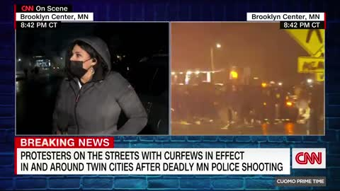CNN in Brooklyn Center, MN - Man tells them on live tv what everyone knows.