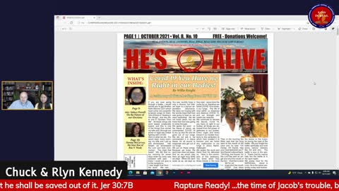 God Is Real!: Rapture Ready? Jeremiah 30:7 Pastor Chuck & Rlyn Kennedy
