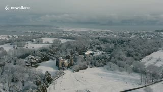 Drone footage shows beauty of Irish landscape blanketed in snow