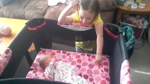 Emma sings to her sister