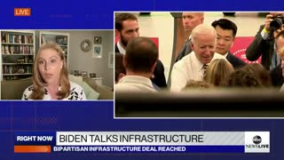 President Biden touts American manufacturing , infrastructure deal