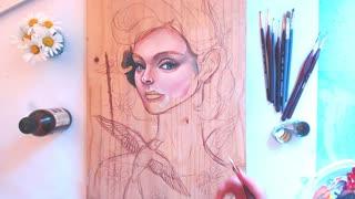 Portrait Oil painting - Woman face