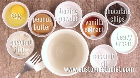 Keto Choco-Peanut Butter Mug Cake